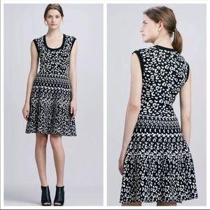 Rebecca Taylor Medium Black White Leopard Stretch